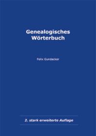 Genealogisches Wörterbuch - Buchumschlag